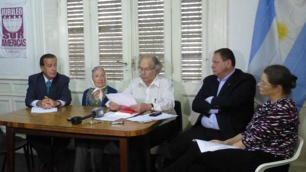 Adolfo Perez Esquivel press conference