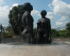 "Redemption Song, by Laura Facey, outside Emancipation Park in Kingston, Jamaica. The statues symbolise the rise from the horrors of slavery, and are inspired by the words of Jamaican National Hero Marcus Garvey (later used by Bob Marley), ""None but ourselves can free our minds""."