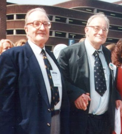 Martin Dent (right), with Bill Peters in Birmingham in 1998.