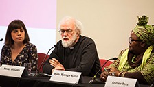 Image for feature titled Rowan Williams speaks at Life Before Debt