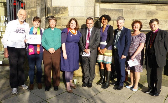 'Eve-of-Run' Events: special guests, speakers and organisers outside St Thomas' Church