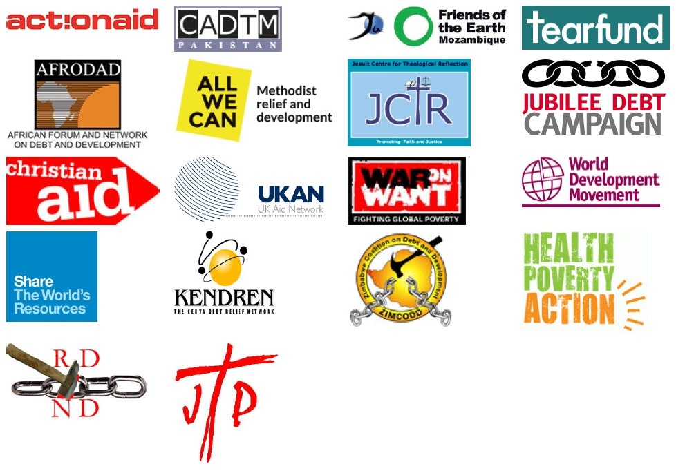 Logos of the signatories of the letter to Justine Greening