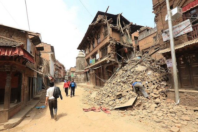Earthquake damage in Bhaktapur, Nepal. Photo: Laxmi Prasad Ngakhusi / UNDP Nepal.