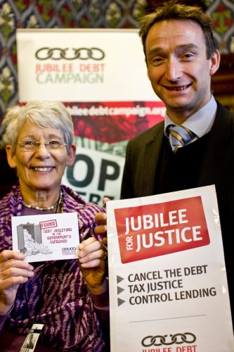 Ann Hillier with John Leech MP for Withington in the House of Commons