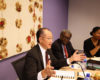 World Bank President Jim Kim talking to World Bank staff in Accra in October 2014 (Dominic Chavez/World Bank/Flickr)